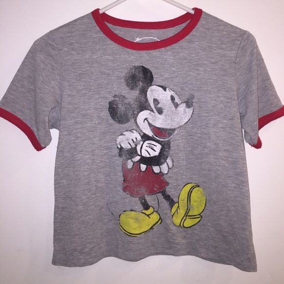 Mickey Mouse Crop Top New! (Disney licensed) Disney Tops Crop Tops