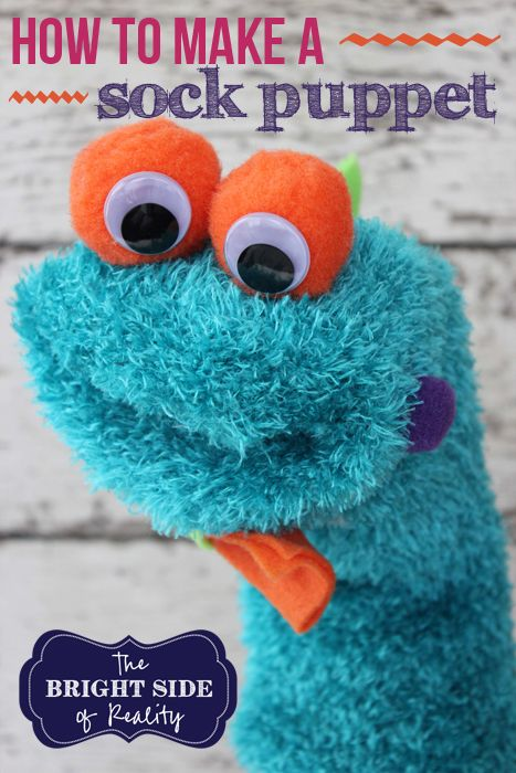 how to make a fuzzy sock puppet tutorial. It's so cute and so easy. Your kids will love this.