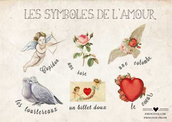 Les symboles de l'amour-: French Language, Saint Valentine, French Lessons, En Françai, French Immer, Le Françai, French Classroom, French Valentine, Langu Françai