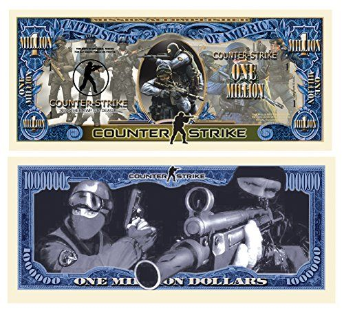Set of 1000 – Counter Strike Collectible Million Dollar Bill