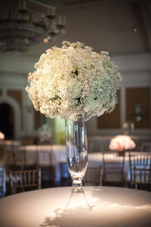 Tall centerpiece <3: Floral Centerpieces, Babies, Ideas, Babybreath, Baby Breath, Breath Centerpieces, Babies Breath Centerpiece, Flowers, Center Pieces
