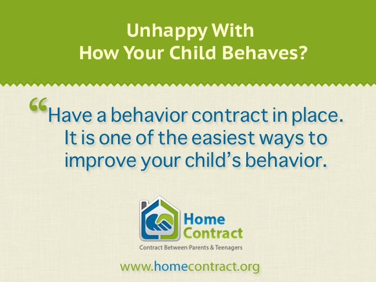 12 Best Behavior Contract Images On Pinterest | Behavior Contract