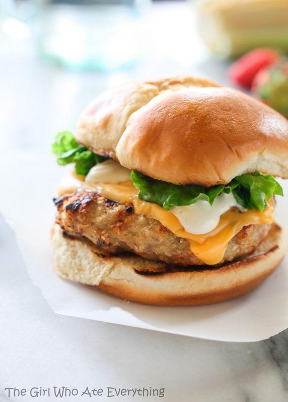 Cheddar Chicken Ranch Burgers