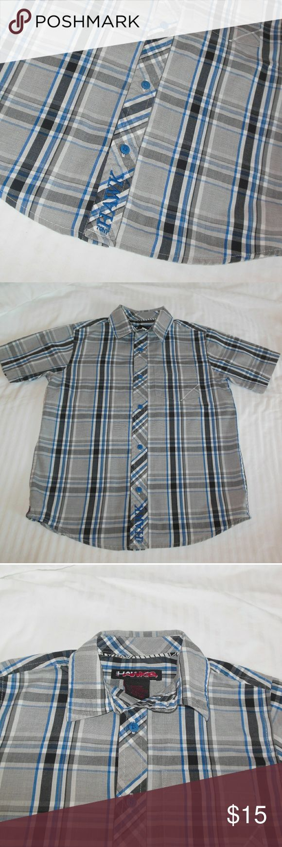 Tony Hawk Plaid Button Down Shirt LN Size S-Boys Up for your consideration here is a very gently used button-down plaid shirt made by Tony Hawk. It is tagged a S (8) Skate or die dude! It is in excellent used condition and is looking for a great new home. Make sure to browse my closet for more skater type clothing for boys/teens. Add another item and receive 10% off, add 3 items or more to receive 15% off. Remember bundling saves you money :-) Tony Hawk Shirts & Tops Button Down Shirts
