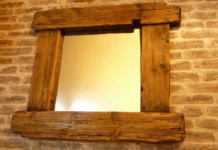 Large mirror made with driftwood frame