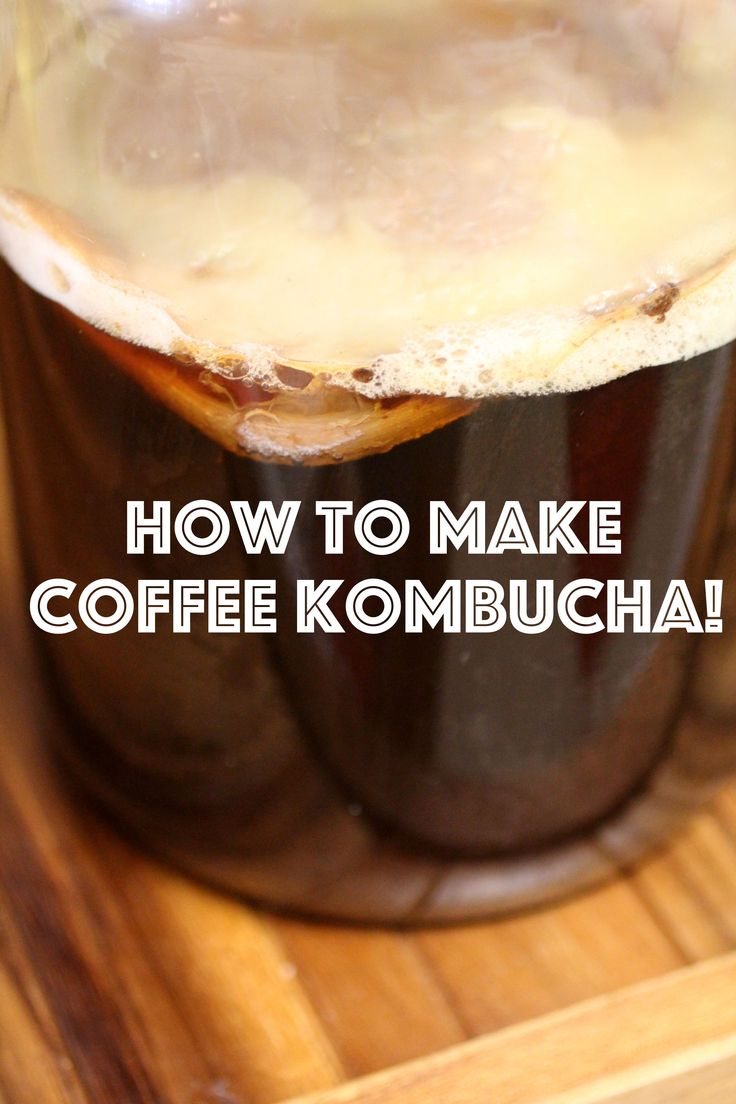 Did you know you can make Coffee Kombucha?? This makes a wonderful iced latte!  ~Cultured Food Life