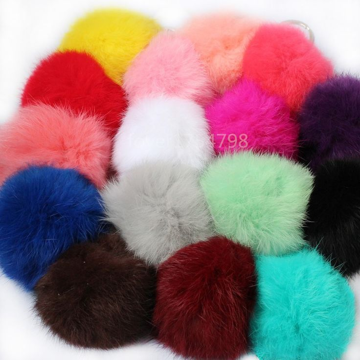 16Colors Real Fur Ball 8cm Pompom Keychain Car Keyring Rabbit Fur Ball Keychain Fur Brand Pompons Bag Charms With Chains Keyring -- This is an AliExpress Affiliate Pin. La oferta se puede encontrar haciendo clic en la imagen