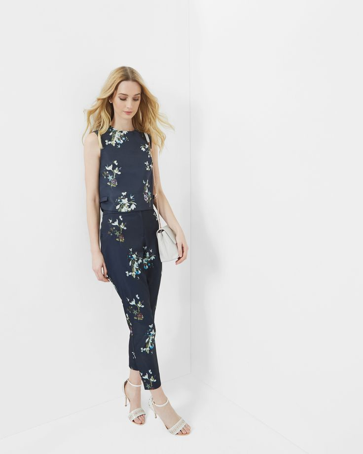 Entangled Enchantment bow cropped top - Dark Blue | Tops & T-shirts | Ted Baker UK