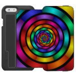 Round and Psychedelic Colorful Modern Fractal Art iPhone 6/6s Wallet Case