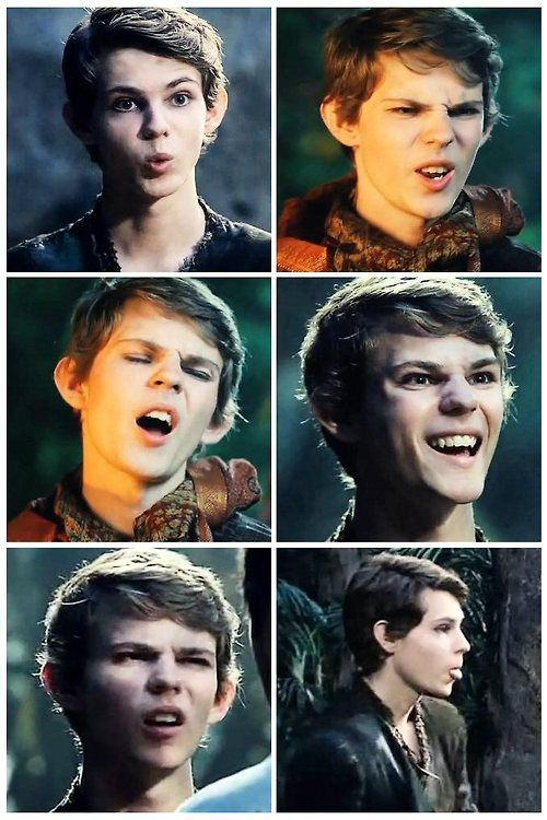 Peters face expressions....I love Robbie Kay♥♥♥♥♥♥♥♥