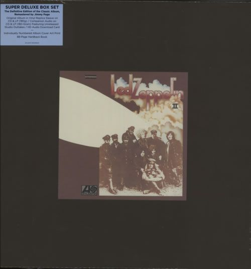 Led Zeppelin, Led Zeppelin II - Numbered Super Deluxe Boxed Set, UK, box set, Atlantic/Swan, 8122796437, 605329