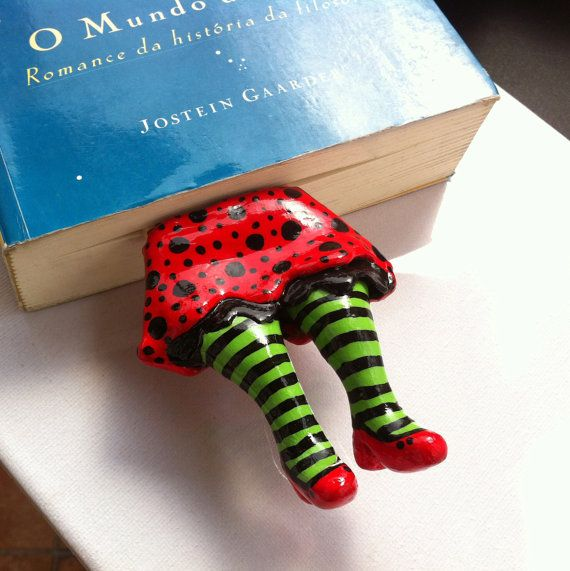 Legs in Your Book  Dorothy BookMark by CeresFaction on Etsy, $25.00