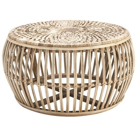 Cane Drum Coffee Table For The Home Pinterest
