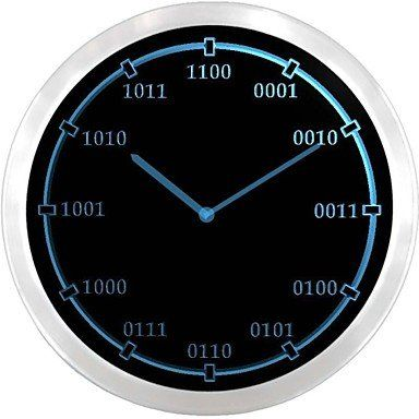 Stunning Binary Index Designer LED Wanduhr
