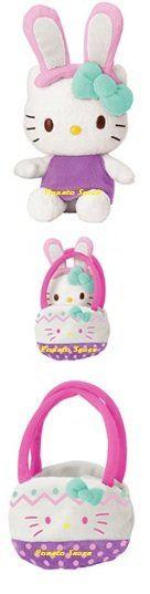 Hello Kitty Easter Bunny Mascot Plush - Blue Bow