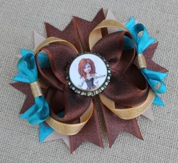 Pirate Fairy Inspired Bow Zarina Bow Tinkerbell Bow by Beagonza, $6.99