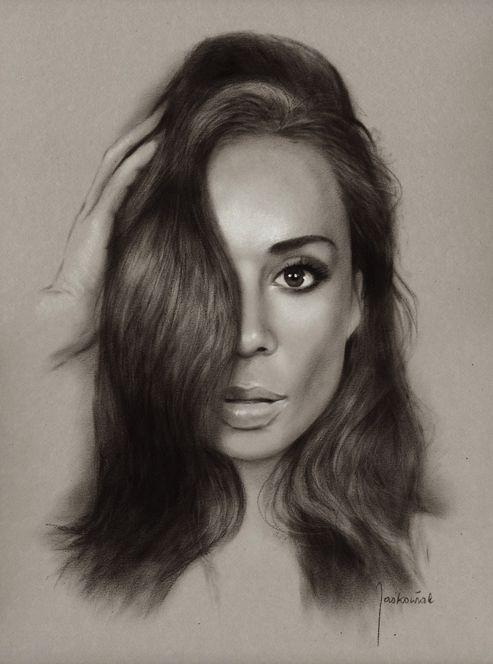 Woman Portrait: Dry Bruch / A3 size Fb. /portraitsbuy