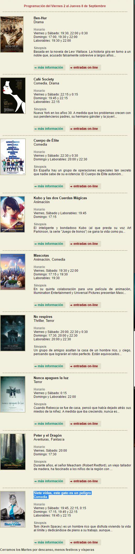 Cartelera Cinemancha del viernes 2 al jueves 8 de Septiembre - https://herencia.net/2016-09-02-cartelera-cinemancha-del-viernes-2-al-jueves-8-septiembre/?utm_source=PN&utm_medium=herencianet+pinterest&utm_campaign=SNAP%2BCartelera+Cinemancha+del+viernes+2+al+jueves+8+de+Septiembre