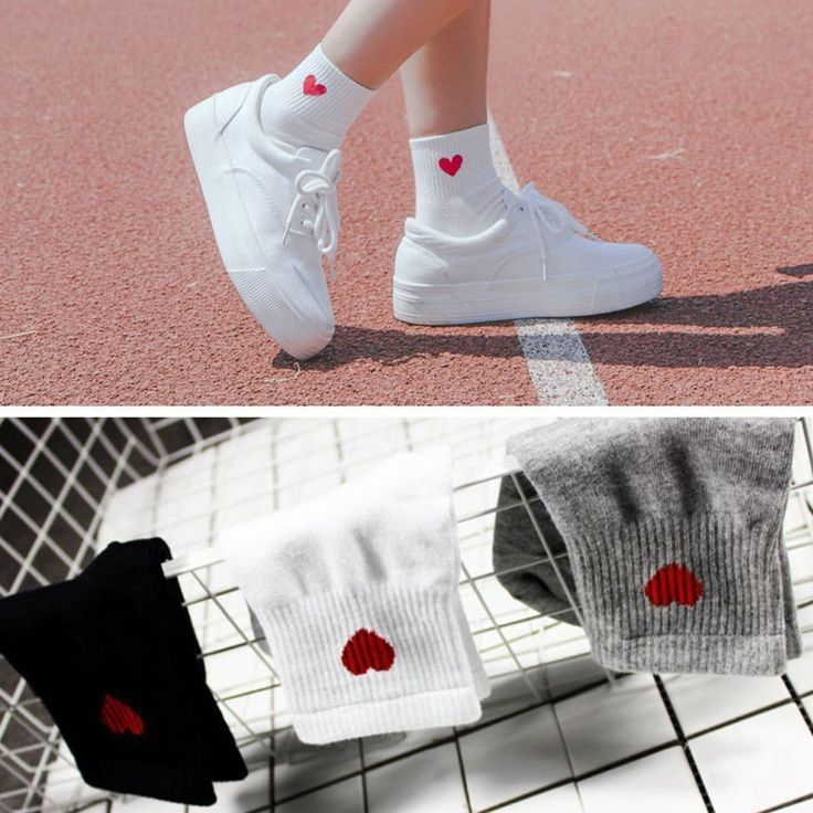 Fall Women Casual Cute Heart Ankle High Short Soft Cotton Socks Fashion Lady