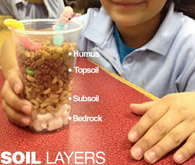 soil layers-science  This would go so well with a rock lesson!