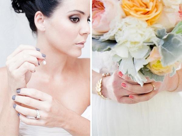 Свадебный маникюр невесты может быть совершенно разных цветов. #wedding #nail #bride