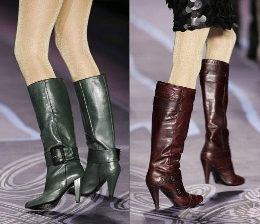 Обувь сапоги с большим голенищем