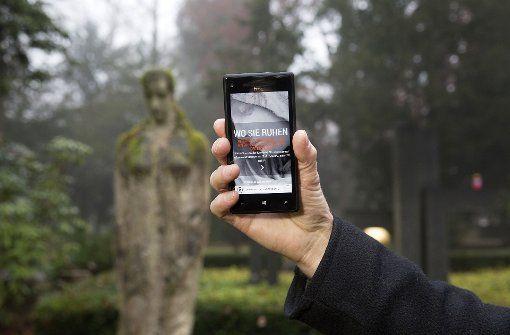 Stuttgarter Friedhofs-App – elektronischer Lotse auf dem Waldfriedhof Foto: Horst Rudel