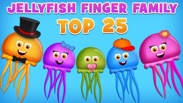 JellyFish Finger Family Collection   Top 25 Finger Family Collection   Finger Family Songs