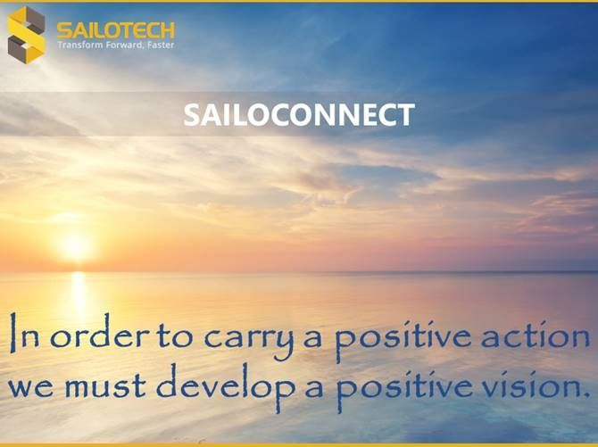 In order to carry a positive action we must develop here a positive vision. #MotivationMonday #MondayMorning #quoteoftheday