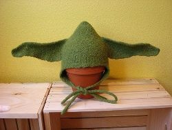 Yoda hat for baby.  My sister finds the cutest stuff.