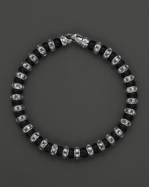 Scott Kay Men's Sterling Silver and Matte Onyx Beaded Bracelet  | www.goldcasters.com