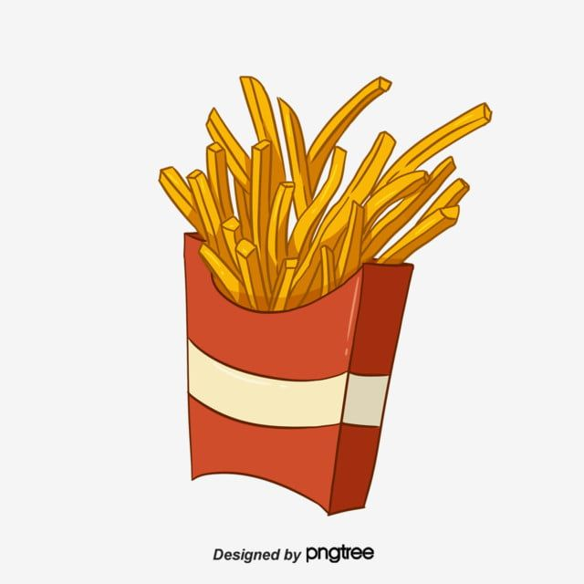 Hand Painted American Fast Food French Fries Fast Food Clipart Packing Potato Png Transparent Clipart Image And Psd File For Free Download American Fast Food French Fries Fast Food