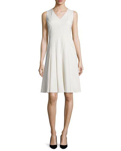 Emery Sleeveless V-Neck Dress, Plus Size