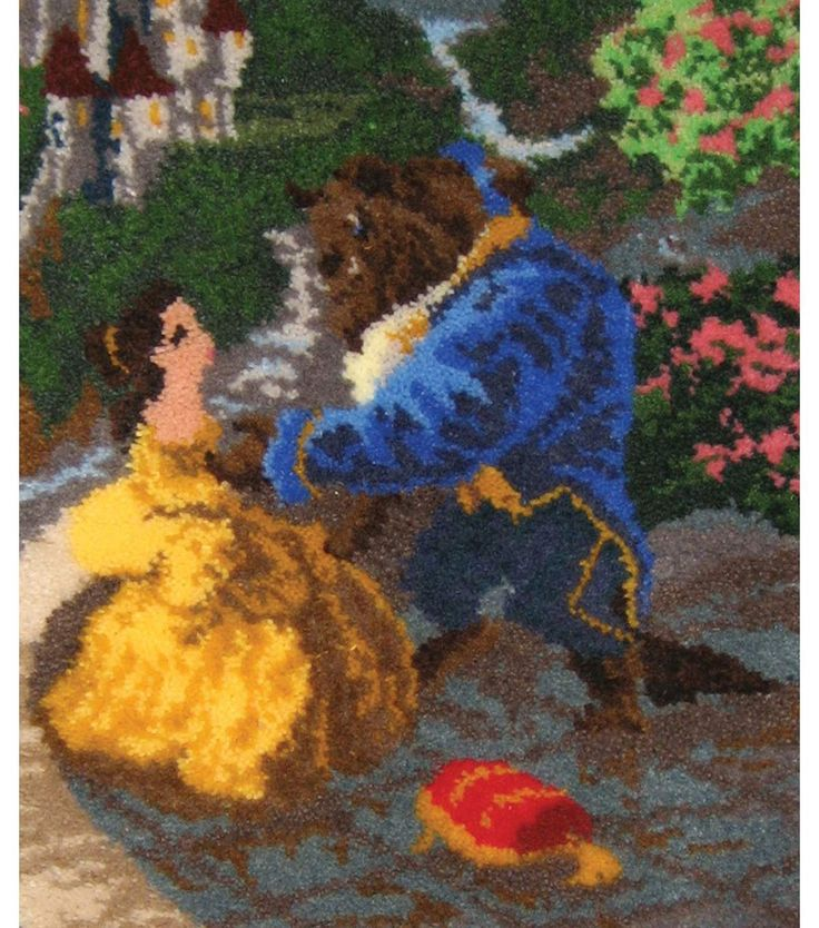 Marburg Tapeten Beauty And The Beast : Beauty and the Beast Latch Hook Kit