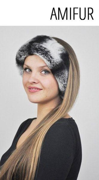 Rex-Chinchilla fur Headband Hey baby gets your headband on for your smart and unique look.  #fashion #furfashion #rexchinchillafurheadband