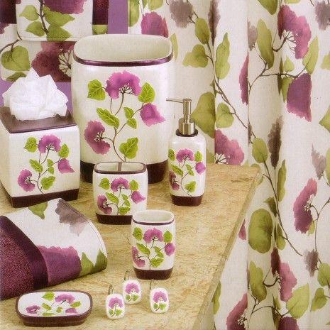 Jasmine Bathroom Accessories - Fabric - Shower Curtains - Bath