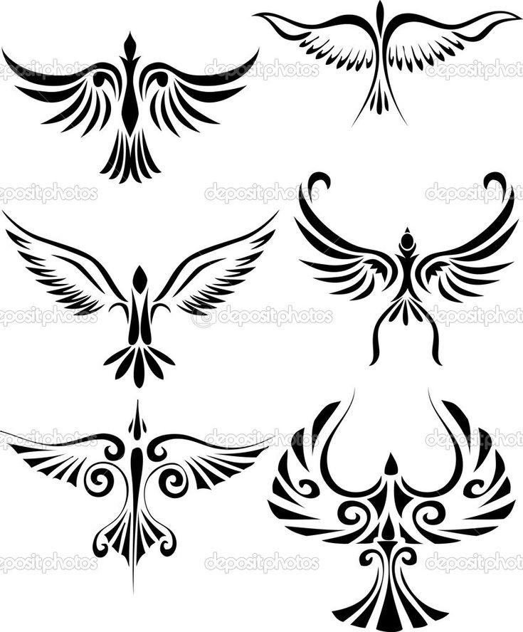 Bird Silhouette Tattoo | Bird tattoo silhouette — Stock Vector © Surya Ali Zaidan #3666844