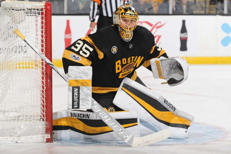BOSTON, MA - MARCH 4: Anton Khudobin #35 of the Boston Bruins watches the play against the New Jersey Devils at the TD Garden on March 4, 2017 in Boston, Massachusetts. (Photo by Steve Babineau/NHLI via Getty Images)