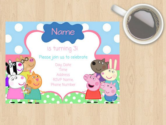 Digital Download Children's Peppa Pig and by DesignsByMoniqueAU