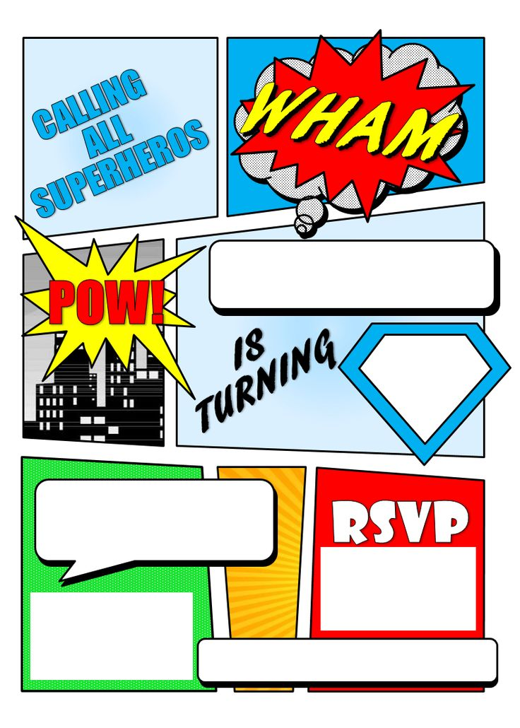 make your own comic book Printable | Superhero Comic Book Party Invitation with Free Printable! (updated 06 ...