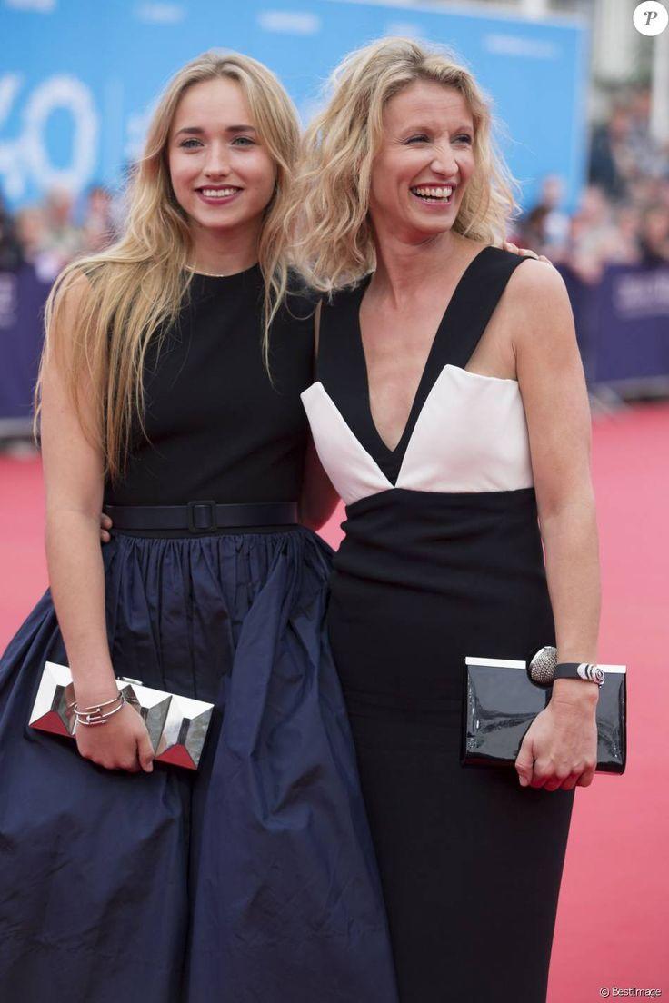 Alexandra Lamy et sa fille Chloé Jouannet - Cérémonie d'ouverture du 40e Festival du cinema americain de Deauville le 5 septembre 2014.
