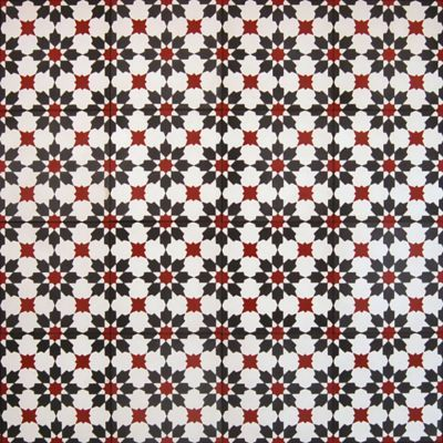 Madrona Collection Encaustic Concrete Tile In Aruba Pattern