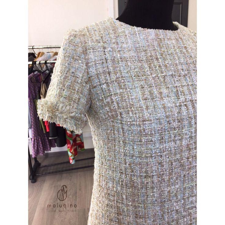 Купить Платье из твида - твид, букле, платье, платье из твида, платье из букле, шанель