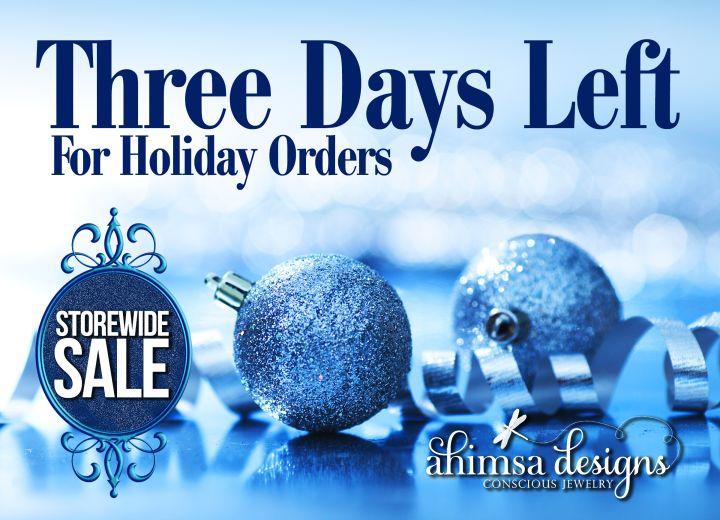 Three Days Left & Storewide Sale   Ahimsa Designs - Artisan Vegan Jewelry Designs by Kristen Anderson