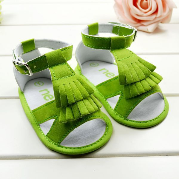 2013 New Arrival Baby Girl's Summer Wear Sandals Green/Red Color Thin Soft  Sole Kid's