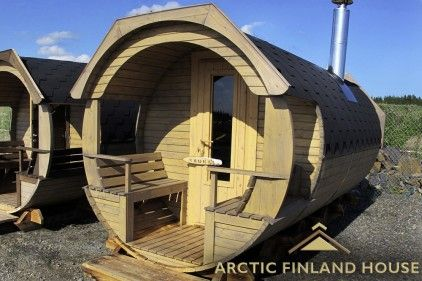 New unique barrel sauna oskar will show you what sauna is all about [Arctic Finland House] - Arctic Finland House