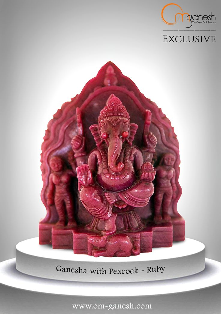 A pure, deep and rich red, this Ruby idol of Ganesha is calming, and speaks of spirit and trust.#Pure #Deep #Rich #Ruby #Idol #Ganesha #Calming #Speaks #Spirit #Trust #OmGaneshCrafts