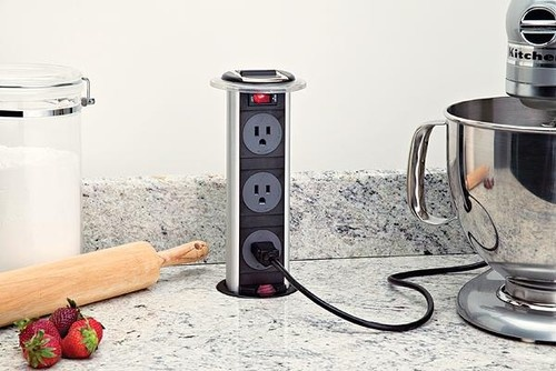 This is soooo cool! Hidden Power Outlet modern kitchen products