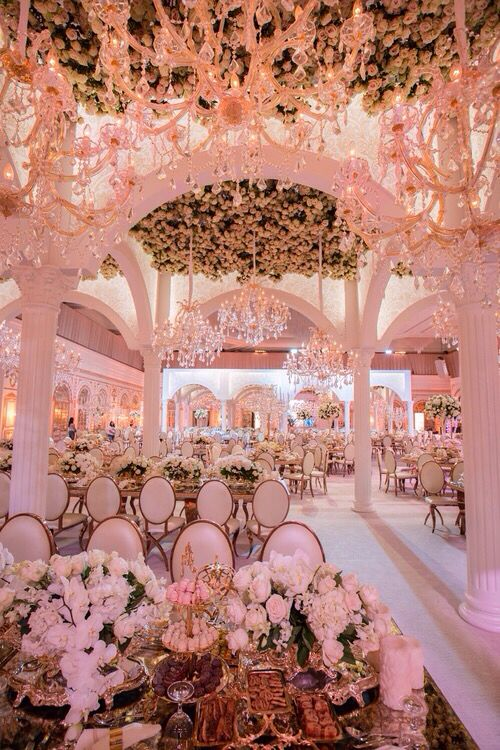 25 best ideas about extravagant wedding decor on for Pictures of wedding venues decorated