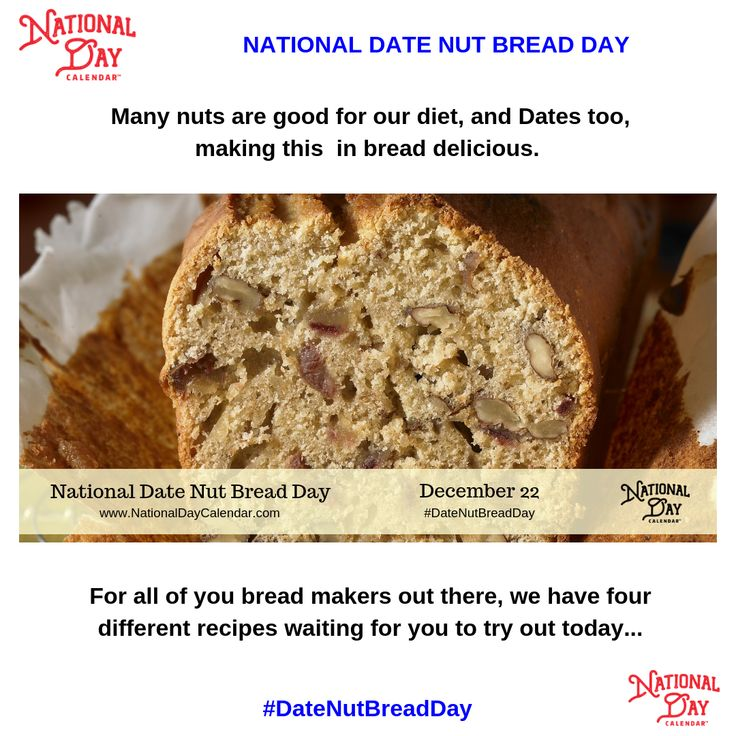 NATIONAL DATE NUT BREAD DAY December 22 National Day